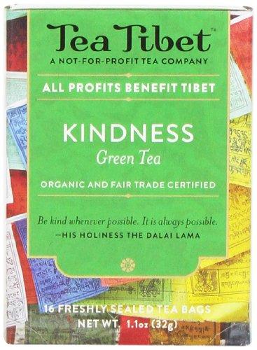 Tea Tibet Tea, Green Kindness, 16 Count