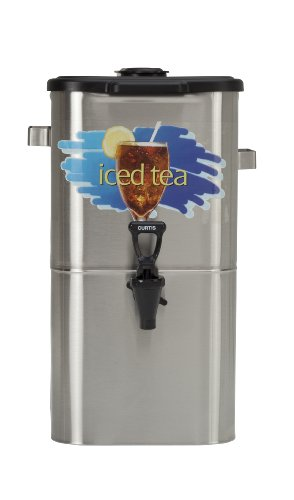 Wilbur Curtis Iced Tea Dispenser 4.0 Gallon Tea Dispenser, Oval 17″H – Designed to Preserve Flavor – TCO417A000 (Each)