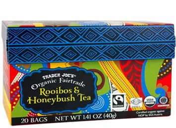 Trader Joe's Organic Fairtrade Rooibos & Honeybush Tea 20 bags (Pack of 2)