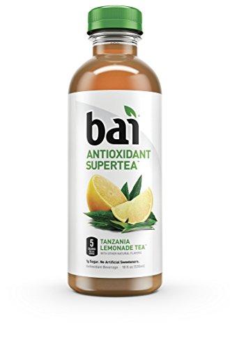 Bai Tanzania Lemonade Tea, 5 Calories, No Artificial Sweeteners, 1g Sugar, Antioxidant Infused Beverage(pack of 12)