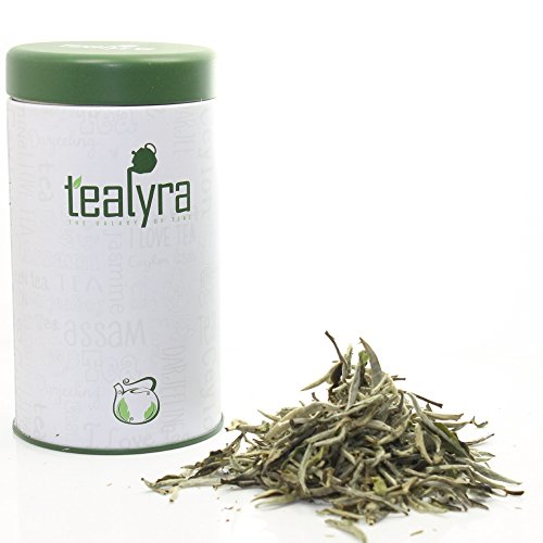 Organic White Tea Silver Needle – Bai Hao Yinzhen Loose Leaf – Gift Canister (2oz / 55g TIN)