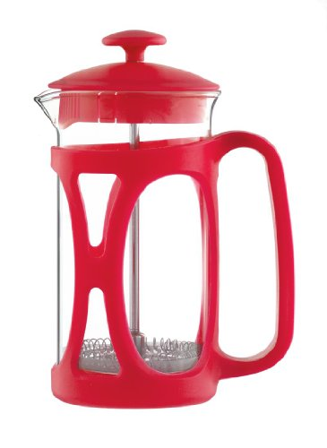 Grosche Basel French Press Coffee and Tea Maker (Small – 350 ml, Red)