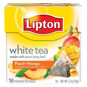 Lipton White Tea Island Mango Amp Peach Pyramid Tea Bags 20