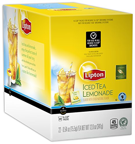 Lipton Lemonade Iced Tea K-Cups, 22 ct