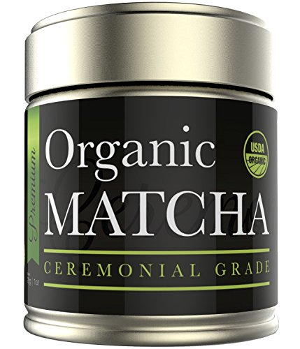 Kiss Me Organics' Ceremonial Matcha – Japanese Matcha Green Tea Powder – USDA Certified Organic – Ceremonial Grade – [1oz]