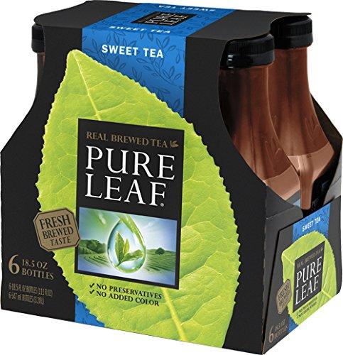 Pure Leaf Iced Tea, Sweet Tea, 18.5 oz Bottle (6-Pack)