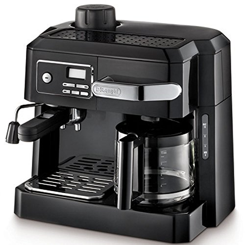DeLonghi Combination Drip Coffee and Espresso Machine, with Patented Flavor Savor Brewing System & Swivel Jet Frother For Great Cappuccinos, Pause 'n Serve Feature, 24 Hour Digital Programmable Timer