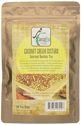 Special Tea Gourmet Rooibos Tea Bags, Coconut Custard, 20 Count