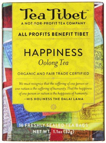 Tea Tibet Tea, Happiness Oolong, 16 Count