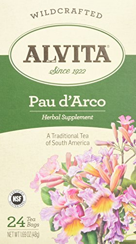 Alvita Teas Pau D' Arco Herbal Tea Bags, 24 Count