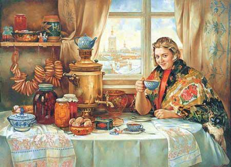 стихи про чай, стихи про чаепитие, стихи про самовар