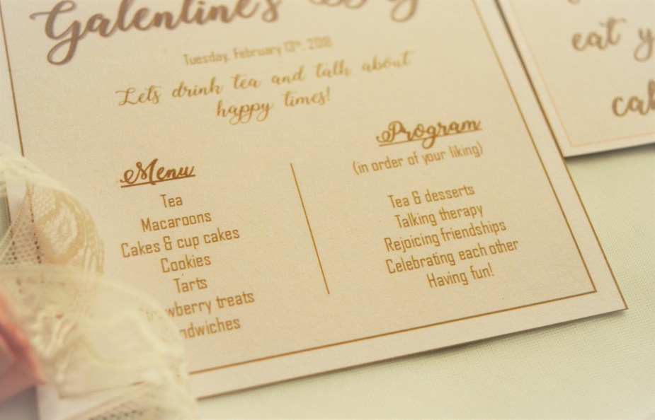 Galentine's Tea Invite