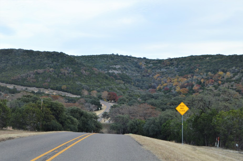 winding road in texas