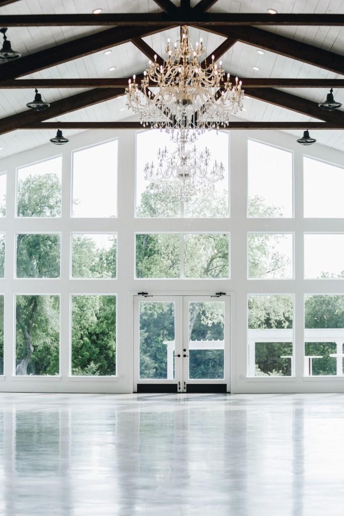 Rustic barn glass door wedding venue