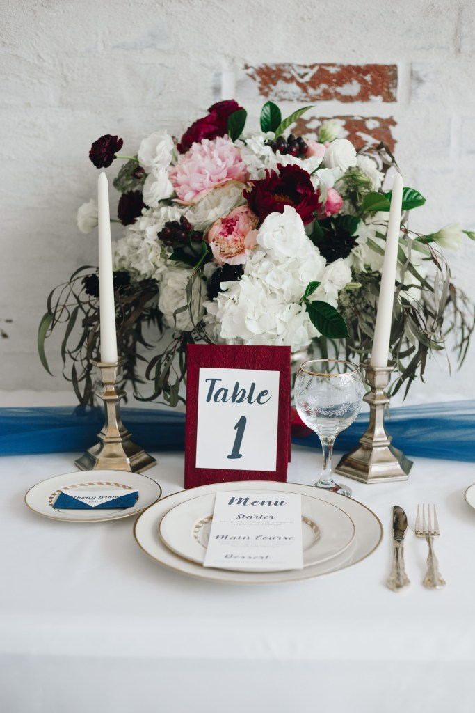 wedding table centerpiece table number