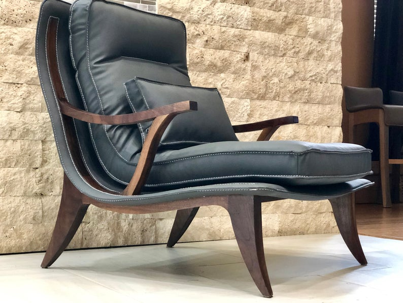 Father's Day Custom Leather Arm Chair