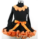 orangeandblackpettiskirtgirlshalloweenoutfit
