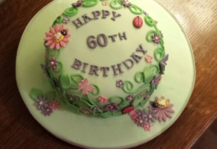 60th Birthday Cake Teacups Pearls