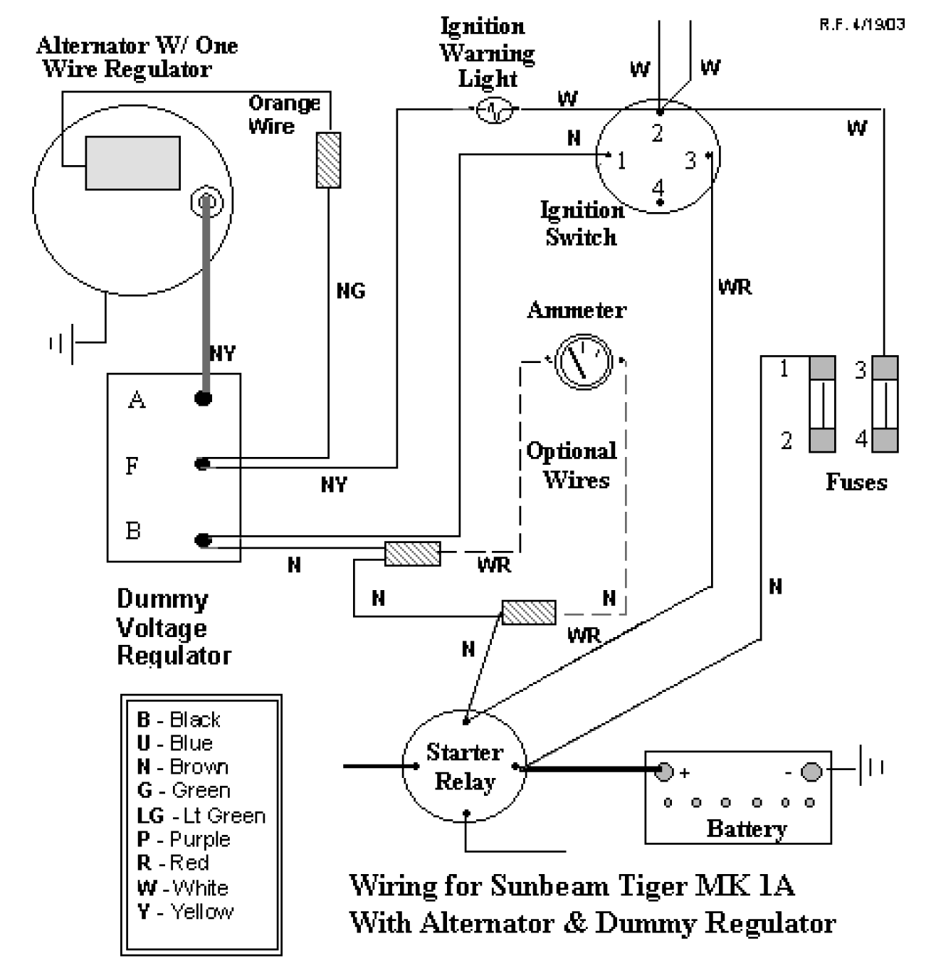 Ford Voltage Regulator Diagram - Wiring Diagrams List