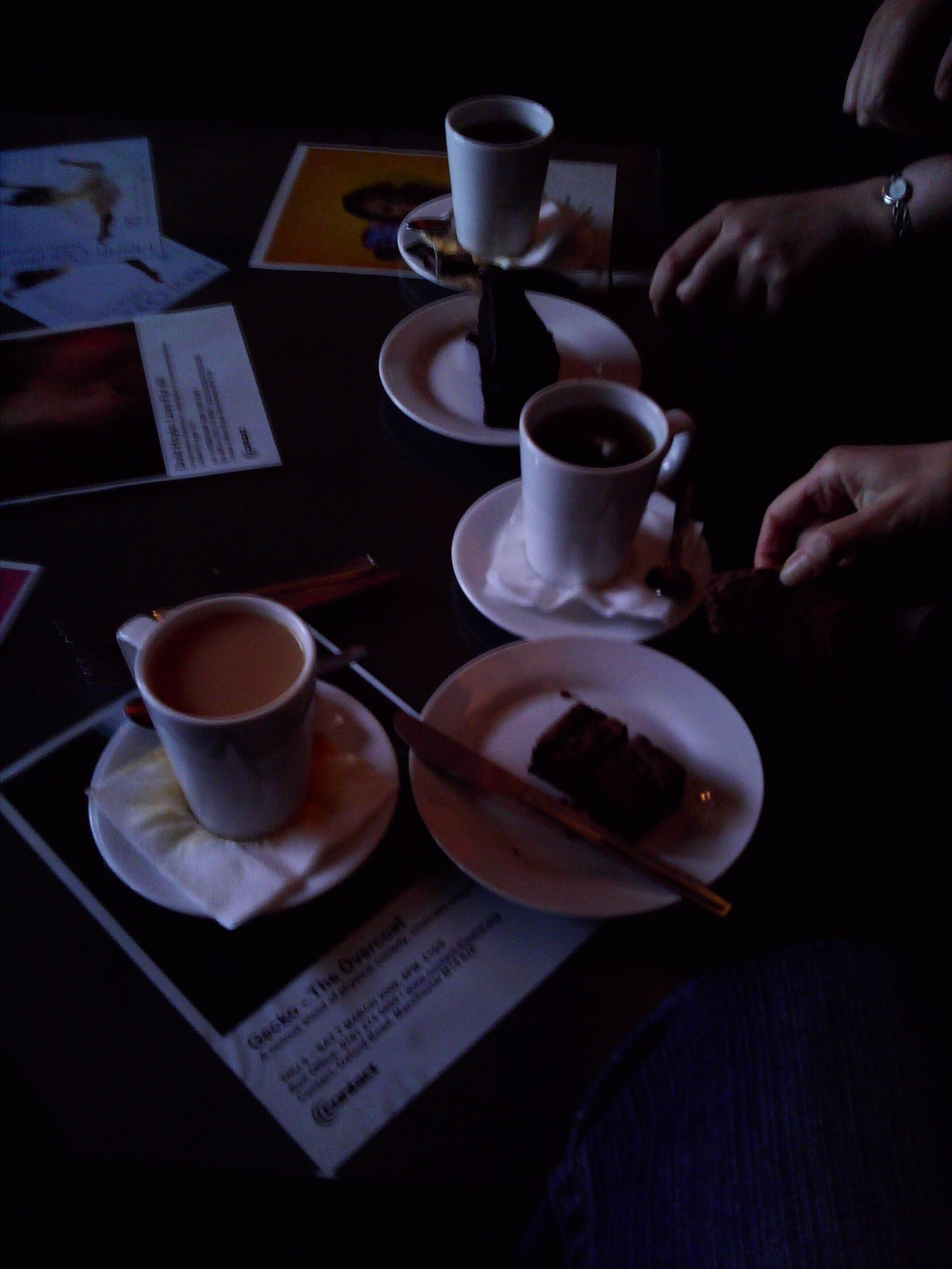 Tea and cake at the Contact Theatre