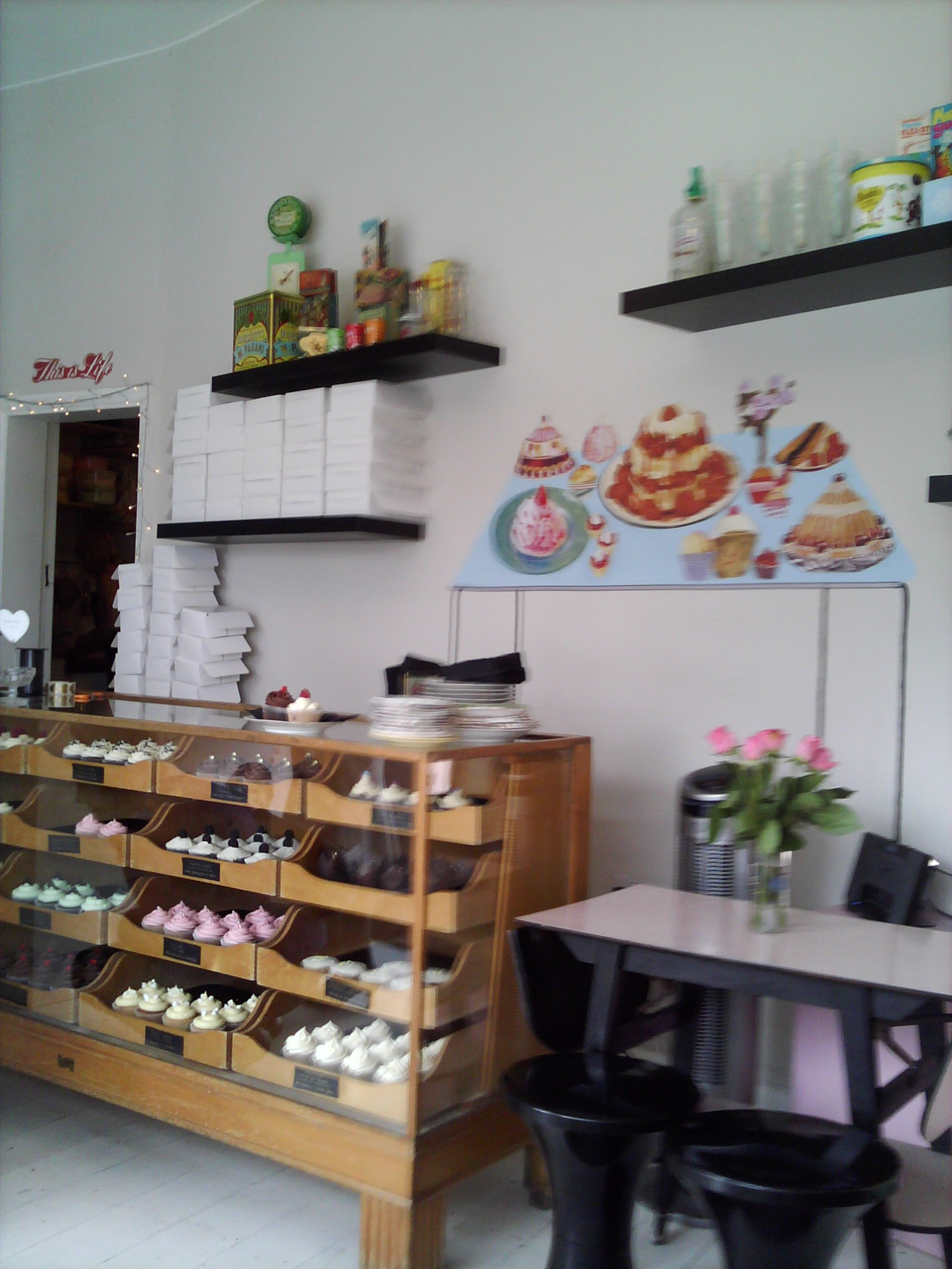 The wide range of cupcakes on offer at Sweet Tooth Cupcakery