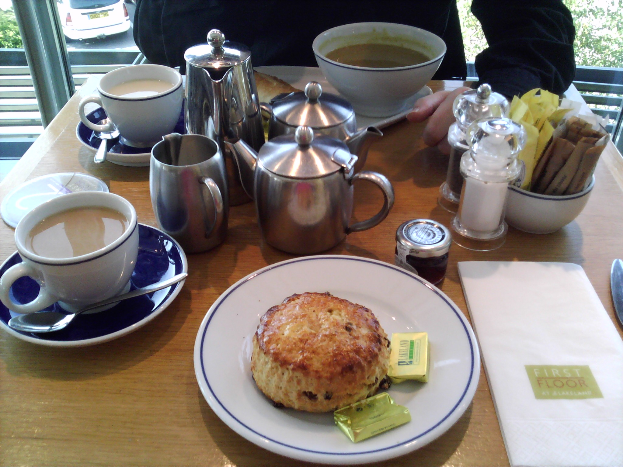 Tea, scone and soup in Lakeland Windermere