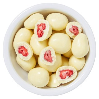 aardbei witte chocolade bonbon