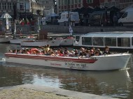 We did not ride the canals in Gent, but we waved to some passersby.