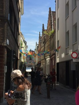 Narrow, winding European streets are a favorite sight.