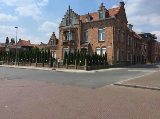 This is a house across the street. The prominent fleurs-de-lis were interesting.