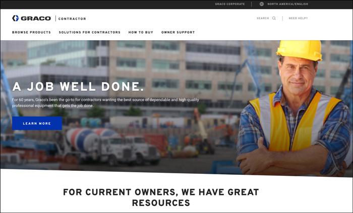Graco website content