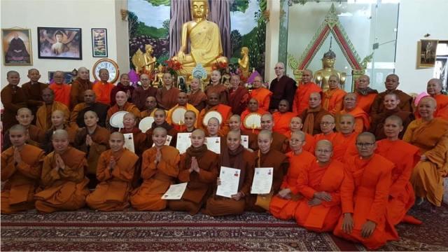 Bodhgaya International  Theravada Bhikkhuni Ordination January 2019