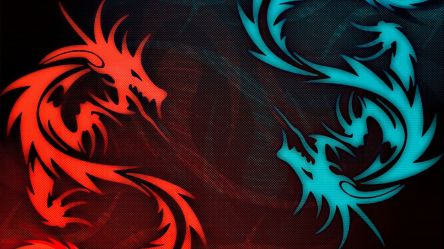 Water And Fire Dragons Blue And Red Dragon 1920x1080 Wallpaper teahub io
