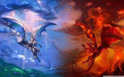 Fire Dragon Wallpaper On Wallpaper Hd Pic Hwb28571 Red Dragon White Dragon Battle 1024x640 Wallpaper teahub io