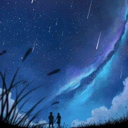 Starry Night Anime Background 1200x1200 Wallpaper teahub io