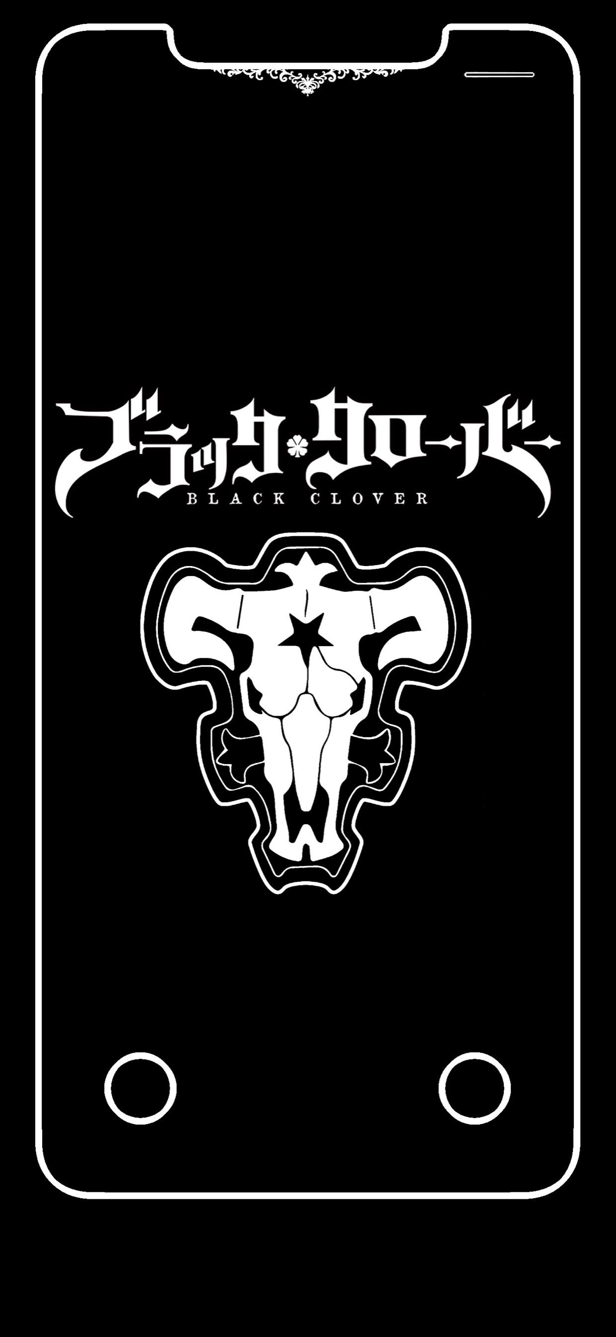 Black Bull Wallpaper : black, wallpaper, Black, Clover, 1240x2688, Wallpaper, Teahub.io
