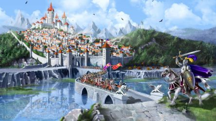 Middle Ages Fantasy City Castle Medieval Knight Wallpaper Hd 1920x1080 Wallpaper teahub io