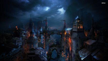Fantasy Dark City 1920x1080 Wallpaper teahub io