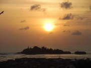 The sunset at Axim