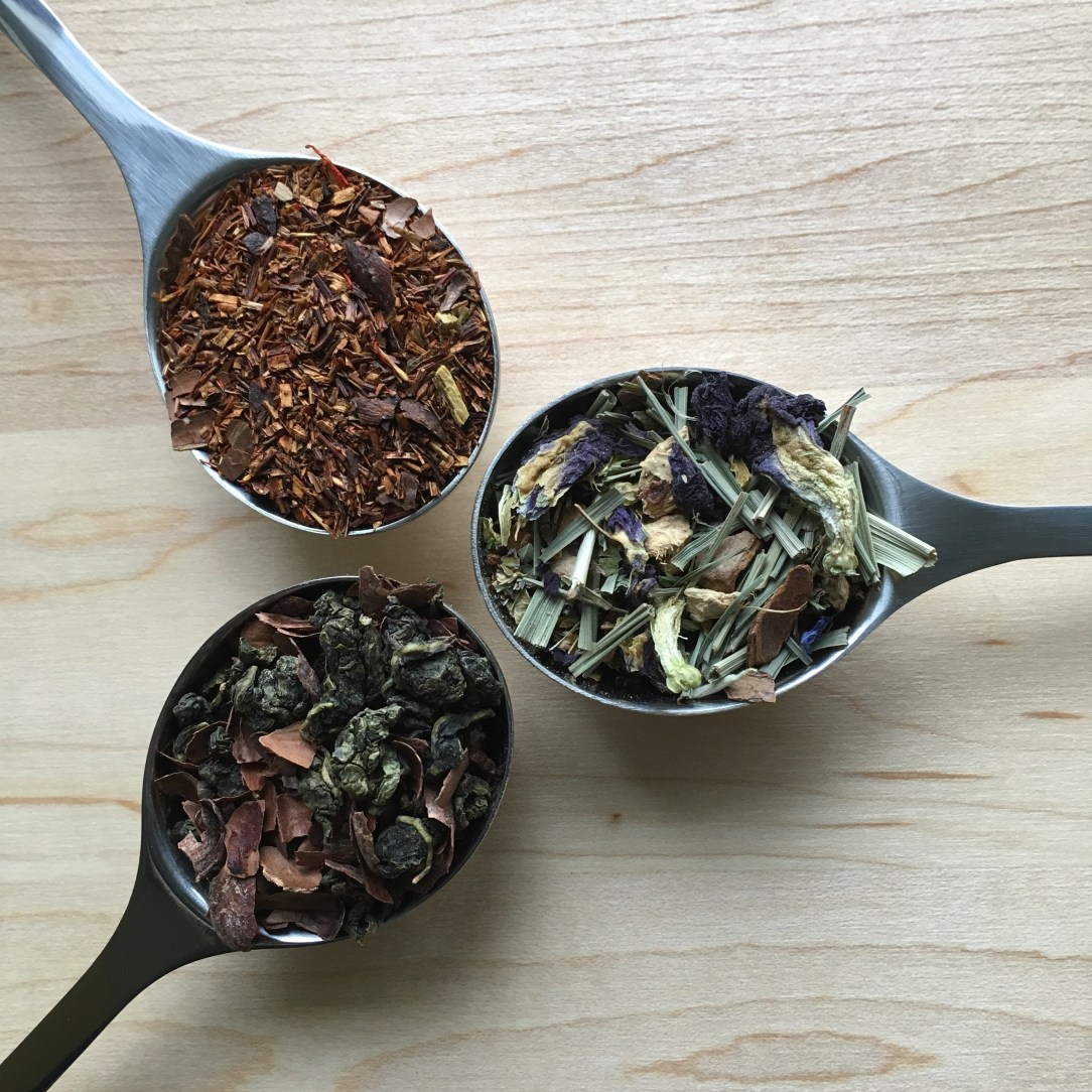 Pluck Tea Oolong Herbal Rooibos Tea Three Spoons