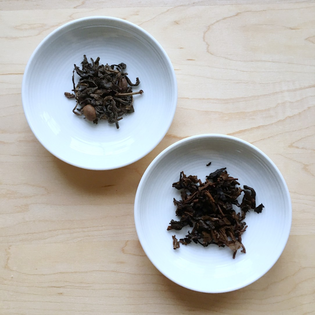 Bluebird Tea Co. Coffee Puerh Tea Dishes