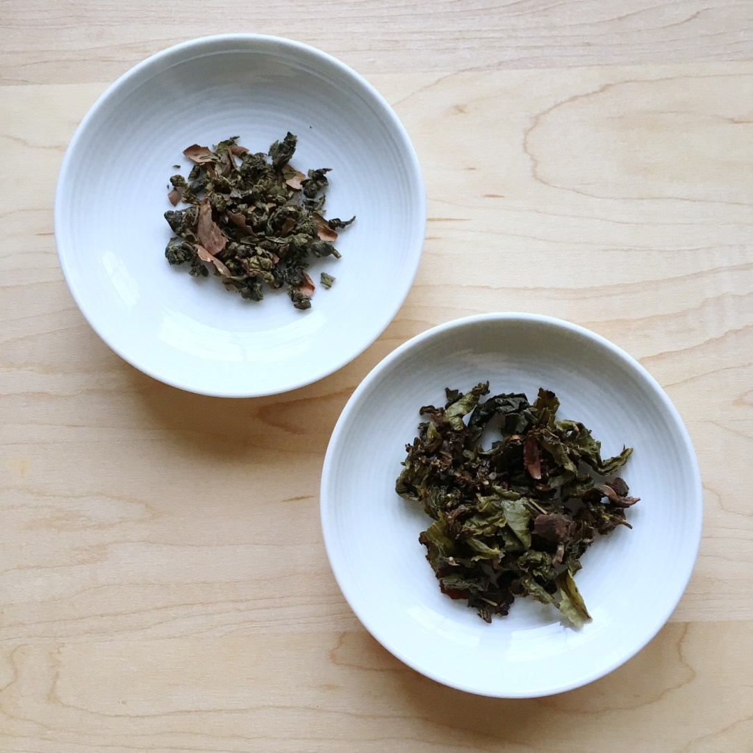 Bluebird Tea Co. Peppermint Cream Oolong Tea Dishes