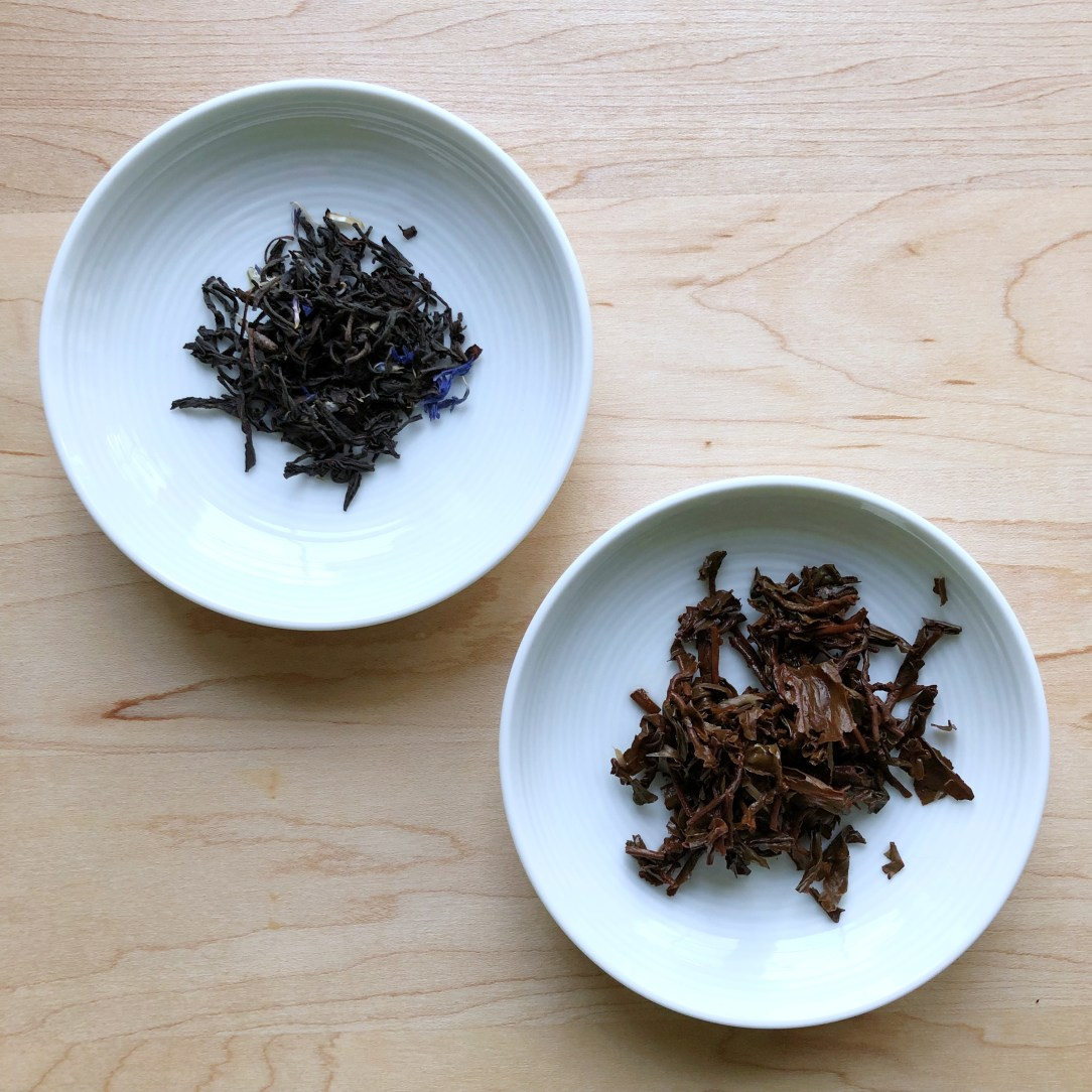 Bluebird Tea Co. Earl Grey Creme Black Tea Dishes