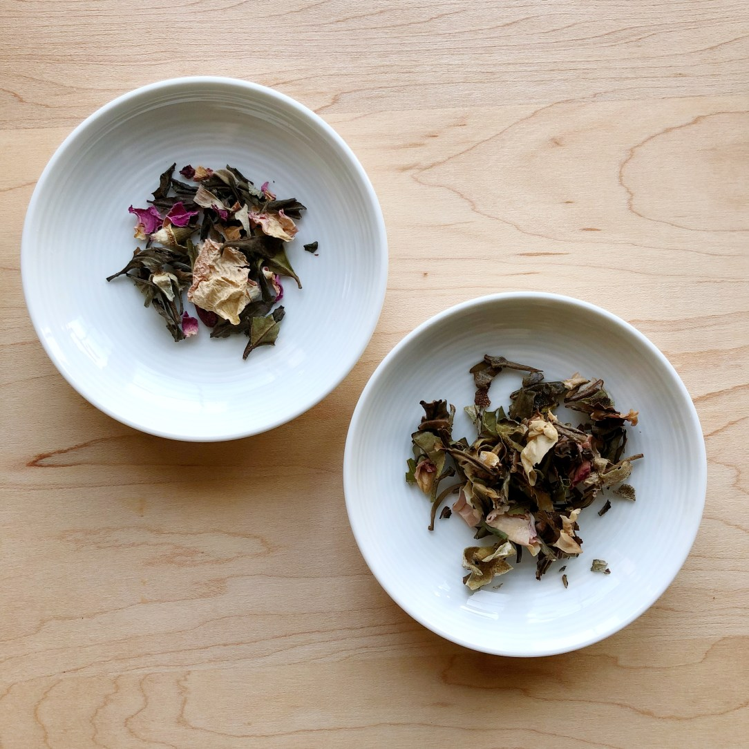 Wight Tea Company Sage Rose White Tea Dishes