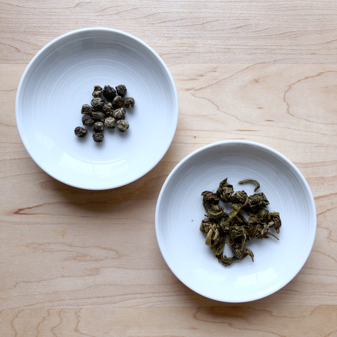 Beautiful Taiwan Tea Company Jasmine Pearls Green Tea Dishes