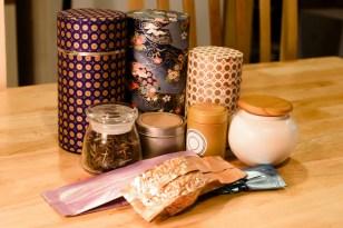 An assortment of tea storage options