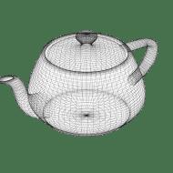 Wireframe of Utah teapot