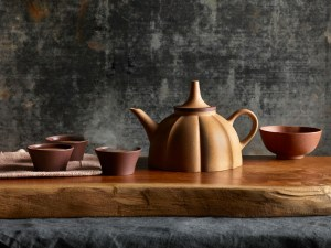 The Twelve Tastes Teapot by Spin Ceramics.
