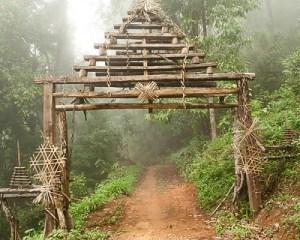 Akha village gate