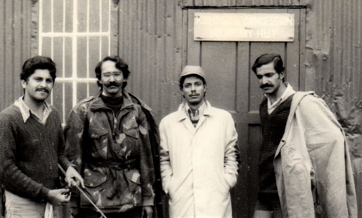Ervikulum Inspection Hut. Khanna, Bunny Mehta, Mohan and Vinay